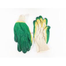 Перчатки Х/Б с двойным латексом СВС (зеленые)