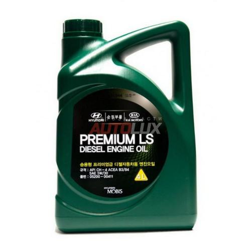 05200-00411 HYUNDAI Масло мот. DIESEL Premium LS C3 5W30 синт. (4 л)