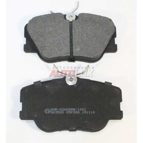 05P280 Колодки дисковые MERCEDES 190(W201) 84-93/(W126) 85-91/(W124) 84-95/(A124) 93-98/(C124) 87-97 передн.