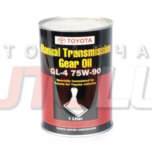 08885-81026 TOYOTA Масло трансм. Hypoid Gear Oil 75W90 GL-4 (для МКПП) (1 л) (Европа, серая банка)