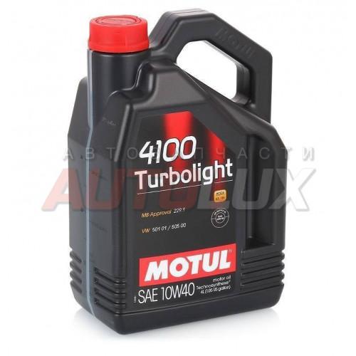 100355 MOTUL Масло мот. 4100 Turbolight SN/CF A3/B4 10W40 (4 л)