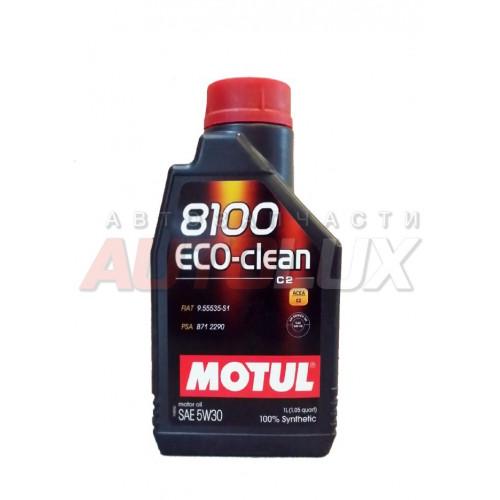 101542 MOTUL Масло мот. 8100 Eco-Clean SN C2 5W30 синт. (1 л)