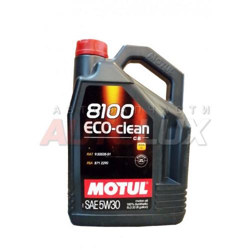 101545 MOTUL Масло мот. 8100 Eco-Clean SN C2 5W30 синт. (5 л)