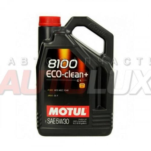 101584 MOTUL Масло мот. 8100 Eco-Clean+ C1 5W30 синт. (5 л)