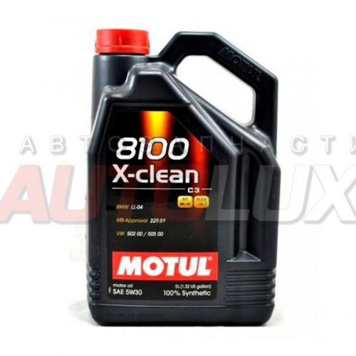 102020 MOTUL Масло мот. 8100 X-Clean SL A3/B4 5W30 (5 л)