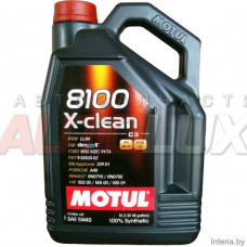 102051 MOTUL Масло мот. 8100 X-Clean SN/CF C3 5W40 синт. (5 л)
