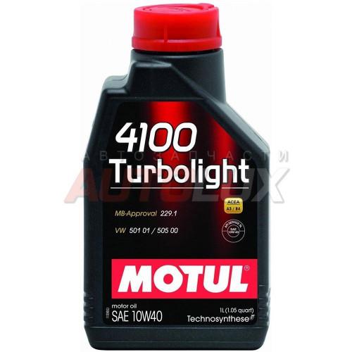 102774 MOTUL Масло мот. 4100 Turbolight SN/CF A3/B4 10W40 (1 л)