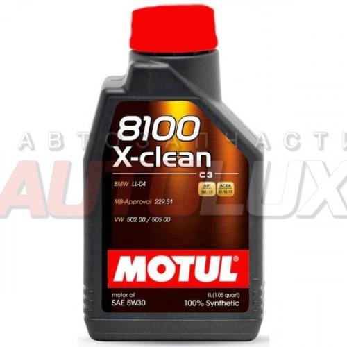 102785 MOTUL Масло мот. 8100 X-Clean SL A3/B4 5W30 (1 л)