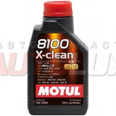 102786 MOTUL Масло мот. 8100 X-Clean SN/CF C3 5W40 синт. (1 л)