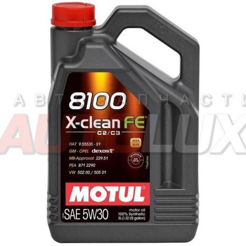 104777 MOTUL Масло мот. 8100 X-Clean FE SN C3 5W30 синт. (5 л)