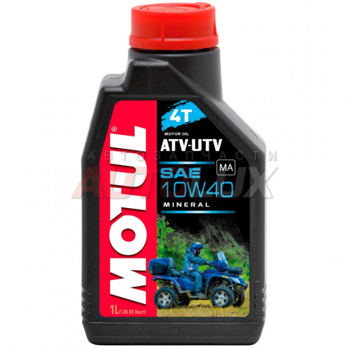 105878 MOTUL Масло мот. 4T ATV-UTV 10W40 минерал. (1 л) для квадроциклов и МОТОвездеходов