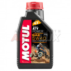 105897 MOTUL Масло мот. 4T Power Quad 5W40 (1 л) для МОТО