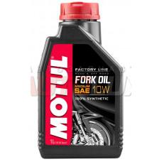 Масло Motul FORK OIL FL MED 10W, 100% синтетическое для реверсных телескопических вилок мотоциклов,