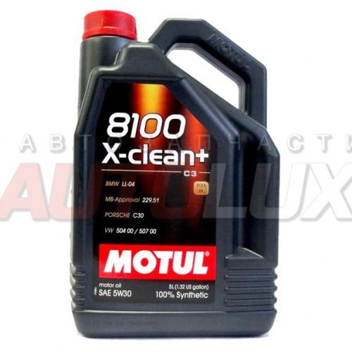 106377 MOTUL Масло мот. 8100 X-Clean+ C3 5W30 синт. (5 л)