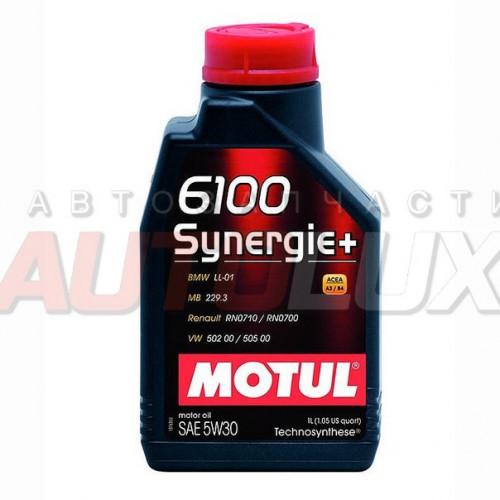 106521 MOTUL Масло мот. 6100 Synergie+ SL A3/B4 5W30 (1 л)