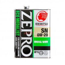 3583-004 IDEMITSU Масло мот. ZEPRO Eco Medalist SN 0W20 GF-5 синт. (4 л)