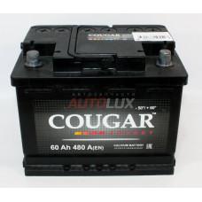 40185 COUGAR Аккумуляторная батарея Energy (L2) 12V, 60Ah, 480A п/п (242x175x190 +/-)