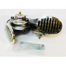 43311 Сигнал звуковой HR 2004 12V, 8A, 410/510Гц, 115Дб (диаметр - 90 мм) (комплект 2 шт) AVS