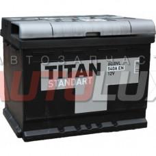 4607008882186 TITAN Аккумуляторная батарея Standart 60Ah, 540A п/п (+/-)