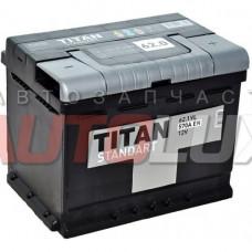 4607008882193 TITAN Аккумуляторная батарея Standart 62Ah, 570A о/п (-/+)
