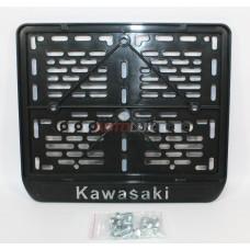 Рамка крепления номерного знака KAWASAKI