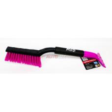 AVS Щетка для снега со скребком WB-6303 мягк.ручка, распущ.щетина (фиолетовый) (48 см)