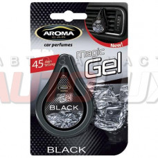 AROMA CAR Magic gel Black на дефлектор