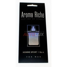 AROMA RICHE Ароматизатор воздуха For MAN Homme Sport №4 (картон)