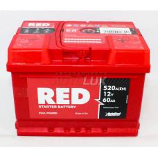 ARL560270 RED Аккумуляторная батарея Starter Battery 12V, 60Ah, 520A о/п (242x175x175 -/+) (Польша)