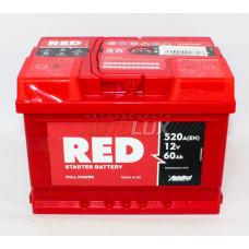 ARL560271 RED Аккумуляторная батарея Starter Battery 12V, 60Ah, 520A п/п (242x175x175 +/-) (Польша)