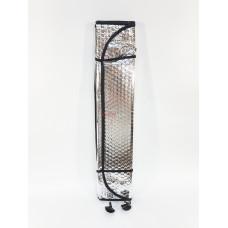 Шторка солнцезащитная на лобовое стекло 60*125 см