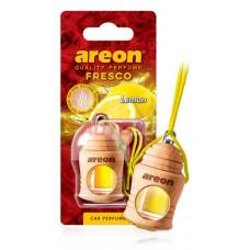AREON Ароматизатор подвесной FRESCO - LEMON (дерево, жидкий)