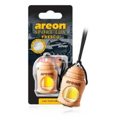AREON Ароматизатор подвесной FRESCO SPORT LUX - Silver (дерево, жидкий)