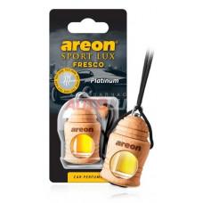 AREON Ароматизатор подвесной FRESCO SPORT LUX - Platinum (дерево, жидкий)