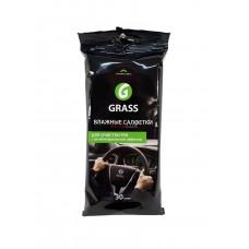 GRASS Влажные салфетки для рук с антибактериальным эффектом (30шт)