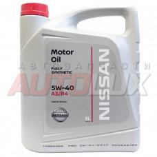 NISSAN Масло мот. Motor Oil A3/B4 5W40 синт. (5 л)