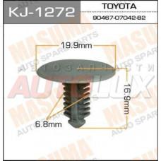 KJ-1272 Клипса крепежная (гвоздик-заглушка) (серая)