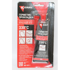 KERRY Герметик-прокладка высокотемпературный (красный) (85 гр)
