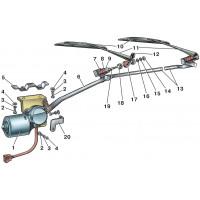 Механизмы стеклоочистителя и их части
