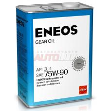 OIL1370 ENEOS Масло трансм. GEAR Oil 75W90 GL-5 (для МКПП) (4 л)