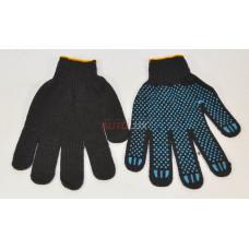 Перчатки Х/Б точка (черные) (4-нити)