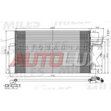 Радиатор кондиционера FORD Focus II 03- 1.4/1.6/1.8/2.0 А/С/ Mazda 3 03- 1.4/1.6/2.0 A/C/ Volvo S40/V50/C30 06- 1.6/1