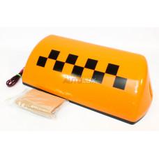 Спецсигнал TAXI (шашки) Супер магнит (оранжевый) на крышу (большой)