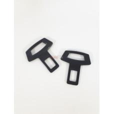 Заглушка замка ремня безопасности универсальная пластиковая черная 2шт AVTOPLAST