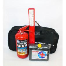 Набор автомобилиста Базовый - 4 предмета (огнетушитель ОП-2/аптечка/знак/сумка)